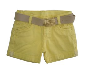 Shorts Sarja Color Lurex