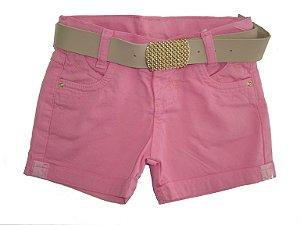 Shorts Sarja Color Lurex Pink