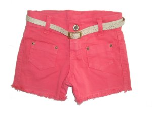 Shorts Sarja Color Bolsos Melancia