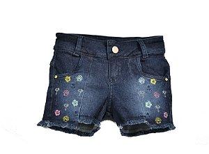 Shorts Jeans c/ Recortes