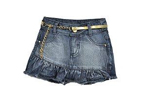 Shorts Saia Jeans Conchas