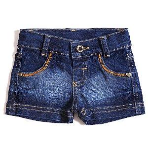 Shorts Jeans Clube do Doce Sali Paetês