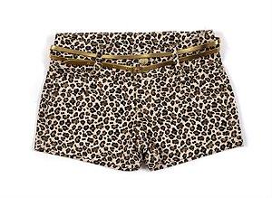 Shorts feminino juvenil Sarja 10 ao 16 Caribe Onça clube do doce