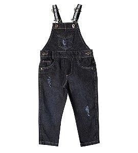 Jardineira Jeans Suspensório