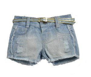 Shorts Jeans Desfiados