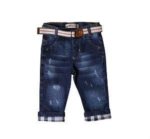 Calça Regular Jeans Clubinho