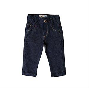 Calça Regular Jeans Selo