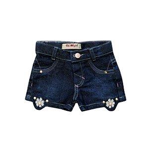 Shorts Slim Jeans Flor
