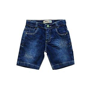 Bermuda Masc. Regular Jeans Petróleo