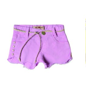Shorts Slim Sarja Ondas Color Lavander
