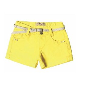 Shorts Regular Color Perolas Amarelo