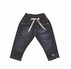 Calça Fem. Cropped Jeans Abelha