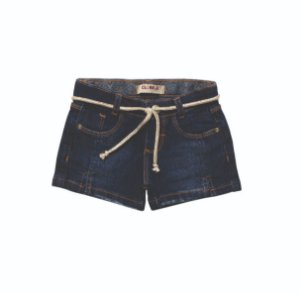 SHORT FEMININO JEANS REGULAR FLINT INFANTIL 1 AO 3 CLUBE DO DOCE