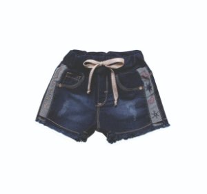 SHORT FEMININO JOGGING LOVELY  INFANTIL 1 AO 3 CLUBE DO DOCE