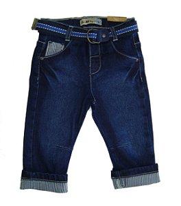 Calça Masc. Regular Jeans Listrado