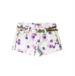 Shorts Slim Sarja Brilho Pink