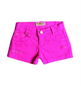 Shorts Slim Sarja Color Love me Carmin