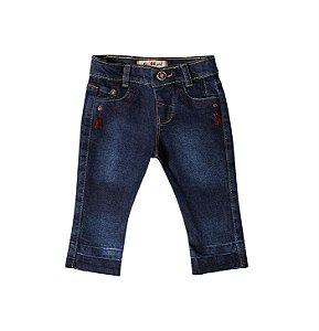 Calça Fem. Slim Jeans Bordô