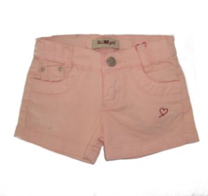 Shorts Slim Sarja Color Love me Rosa