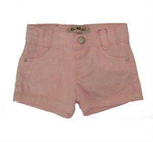 Shorts Regular Sarja Story Color Rosa