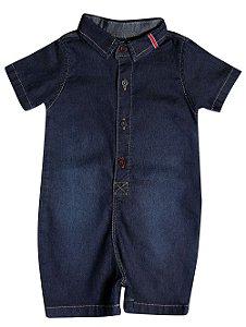 Macacão bebê jeans basic p ao g clube do doce