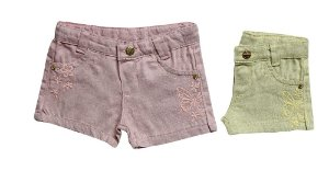 SHORTS REGUÇAR SARJA BUTTERFLY P/G