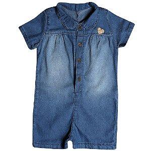 Macacão Jeans Clube do Doce Coração Baby