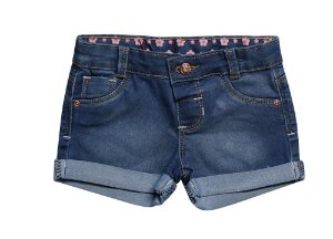 SHORTS REGULAR JEANS FLORES P/G
