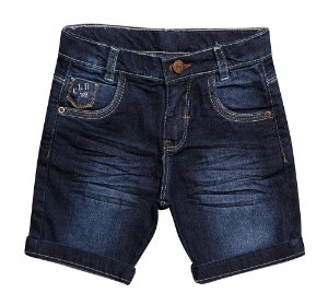 BERMUDA MASCULINA JEANS INFANTIL CLB 1 AO 3 CLUBE DO DOCE