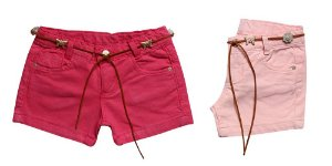 SHORTS SARJA COLORS C/ CINTO 1/3