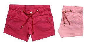 SHORTS FEMININO SARJA LUREX COLORS INFANTIL 1 AO 3 CLUBE DO DOCE