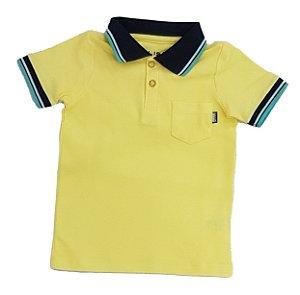 Polo Masculina Amarela Colisão Tam 4