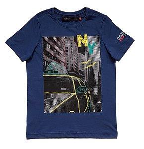 Camiseta Estampada Marinho Tam 10
