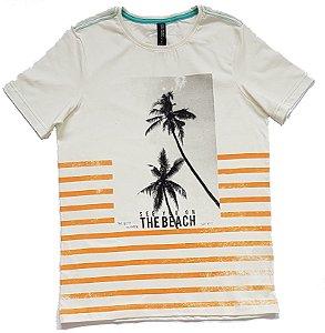 Camiseta Estampada Creme TAM 16
