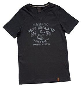 Camiseta Estampada Chumbo TAM 14
