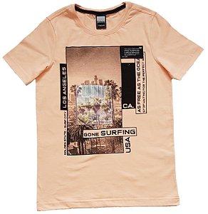 Camiseta Estampada Salmão TAM 12