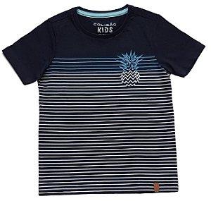 Camiseta Estampada Marinho tam 8