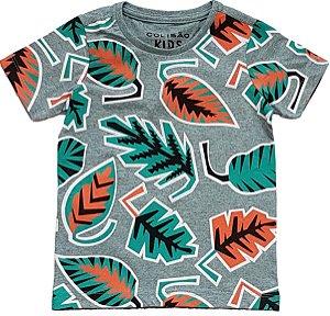 Camiseta Estampada Cinza Tam4