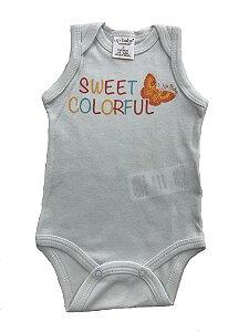 BODY BEBÊ EM SUEDINE SWEET COLORFUL UP BABY ESSENTIALS
