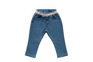 Calça feminina jeans bebê legging p ao g clube do doce