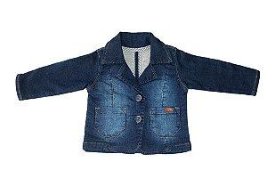 Blazer masculino jeans bebê galão interno p ao g clube do doce