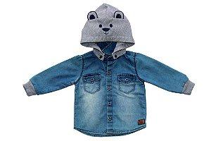 Camisa masculina m/l jeans bebê capuz orelha p ao g clube do doce