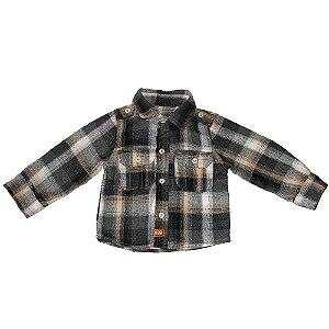 Camisa Flanela Clube do Doce Xadrez Baby