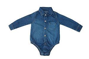 Body masculino jeans bebê m/l p ao g clube do doce