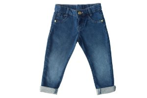 Calça feminina jeans infantil skinny lakers 1 ao 3 clube do doce