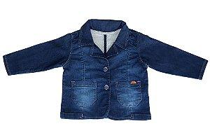 Blazer masculino jeans infantil galão interno 1 ao 3 clube do doce