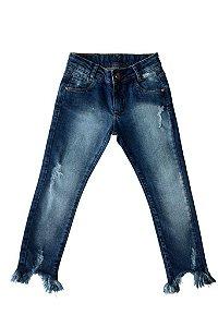 Calça feminina jeans cigarrete infantil 4 ao 8 clube do doce