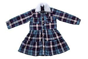 Vestido feminino xadrez infantil 4 ao 8 clube do doce