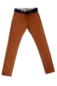 Calça masculina juvenil sarja collors 10 ao 16 clube do doce