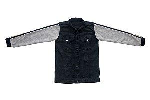 Jaqueta masculina juvenil jeans galão 10 ao 16 clube do doce